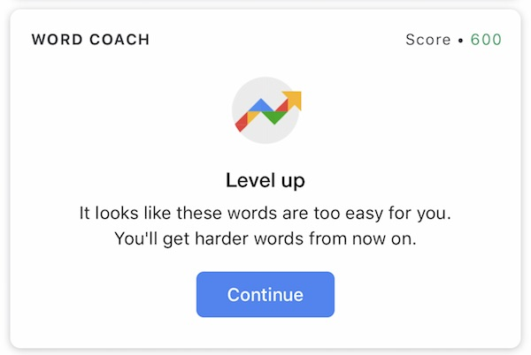 Word Coachでレベルアップ