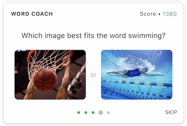 Word Coachの画像での問題
