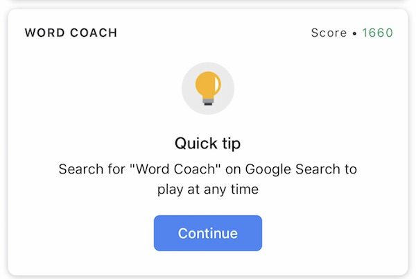 Word CoachのQuick Tip